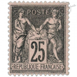FRANCE N°97 TYPE SAGE II 25 C. NOIR, TIMBRE NEUF*1886