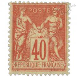 FRANCE N°94 TYPE SAGE II 40 C ORANGE, TIMBRE NEUF*1881