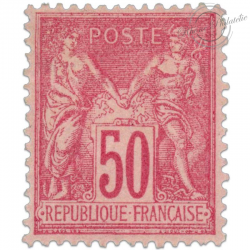 FRANCE N°98 TYPE SAGE 50 C ROSE, TIMBRE NEUF*1890