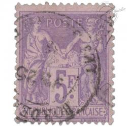 FRANCE N°95 TYPE SAGE, TIMBRE OBLITERE DE 1877