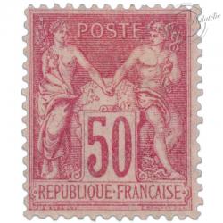FRANCE N°104 TYPE SAGE 50C ROSE, TIMBRE NEUF*1900