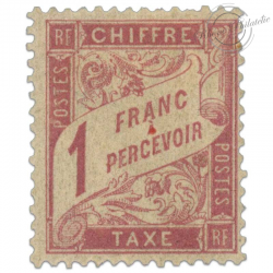 FRANCE TAXE N°39 1F, TIMBRE NEUF* ET SIGNE 1893-1935
