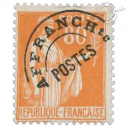 FRANCE PRÉOBLITÉRÉ N°75 TYPE PAIX, TIMBRE NEUF*1922-47