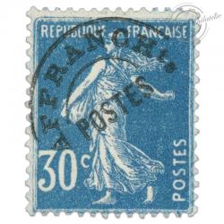 FRANCE PREOBLITERE N°60 TYPE SEMEUSE FOND PLEIN 30C BLEU, TIMBRE NEUF*1922-47
