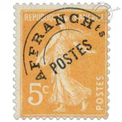 FRANCE PREOBLITERE N°50 TYPE SEMEUSE FOND PLEIN, TIMBRE NEUF-1922-47