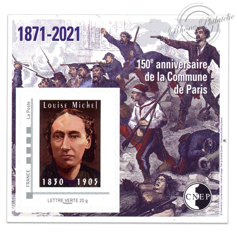 """FRANCE BLOC CNEP N°86 """"ANNIVERSAIRE DE LA COMMUNE DE PARIS"""" 2021-LUXE"""