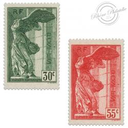 FRANCE N°354 ET 355 VICTOIRE DE SAMOTHRACE, TIMBRES NEUFS*1937