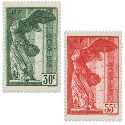 FRANCE N°354 ET 355 VICTOIRE DE SAMOTHRACE, TIMBRES NEUFS DE 1937