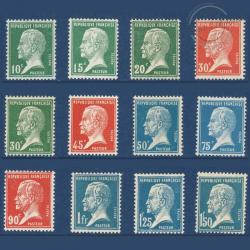 FRANCE N°170 À 181 SÉRIE TYPE PASTEUR, TIMBRES NEUFS-1923-26