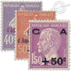 FRANCE N°249 À 251 CAISSE D'AMORTISSEMENT, TIMBRES NEUFS-1928