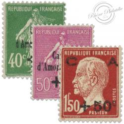 FRANCE SERIE N°253 À 255, CAISSE D'AMORTISSEMENT, TIMBRES **/*1929