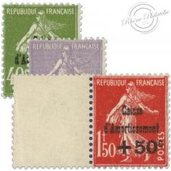 FRANCE N°275 À 277 CAISSE D'AMORTISSEMENT, TIMBRES NEUFS**1931