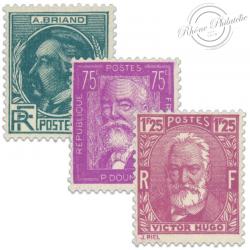 FRANCE N°291 à 293 CÉLÉBRITÉS, TIMBRES NEUFS DE 1933