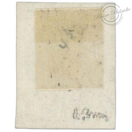 FRANCE N°41B TYPE CÉRÈS, TIMBRE OBLITÉRÉ ET SIGNE DE 1870