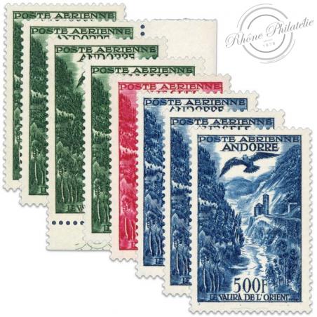 ANDORRE FRANÇAIS PA N°2 À 4 PAYSAGES, TIMBRES NEUFS-1950-57