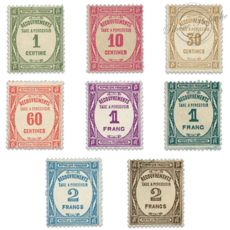 FRANCE TAXE N°55 A 62 RECOUVREMENTS, TIMBRES NEUF**1927-31
