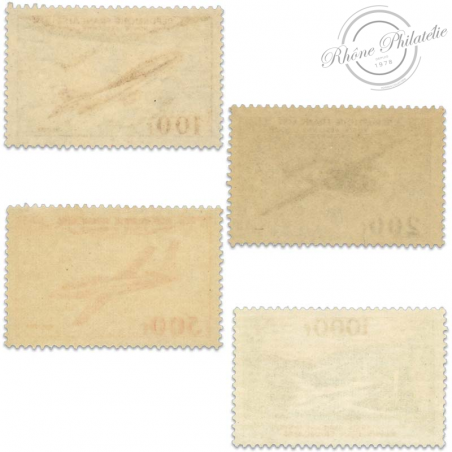 FRANCE PA N°30 A 33 PROTOTYPES, SUPERBES TIMBRES NEUFS-1954