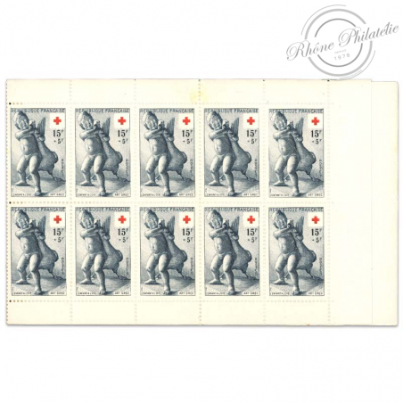 FRANCE CARNET CROIX-ROUGE N°2004, TIMBRES NEUFS-1955