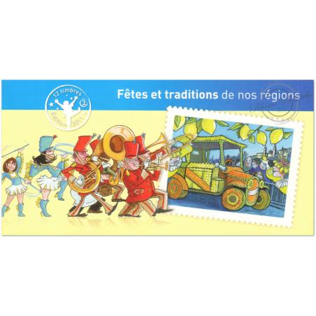 """CARNET """"FETES ET TRADITIONS DE NOS REGIONS"""" (2) COLLECTOR BC578"""
