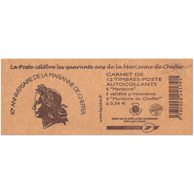 "CARNET ""40 ANS MARIANNE CHEFFER""N°1515 COMPOSITION VARIABLE , CHEFFER ET LAMOUCHE"