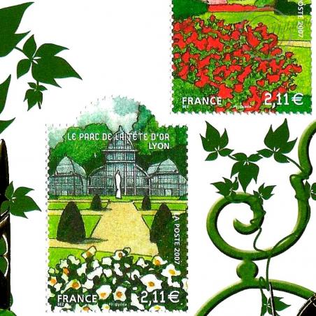 BLOC N°__120 SALON DU TIMBRE 2008 - JARDINS DE FRANCE - LUXE