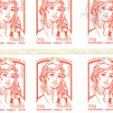 CARNET MARIANNE ROUGE DE CIAPPA 10 TIMBRES