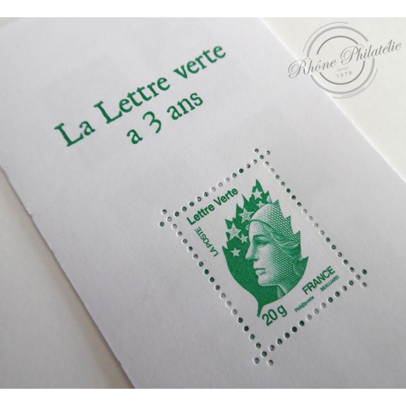 """CARNET """"LA LETTRE VERTE A 3 ANS"""" BC AUTOADHESIF"""