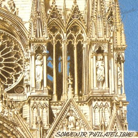 BLOC SOUVENIR N°_58 CATHEDRALE REIMS 2011 - SOUS BLISTER
