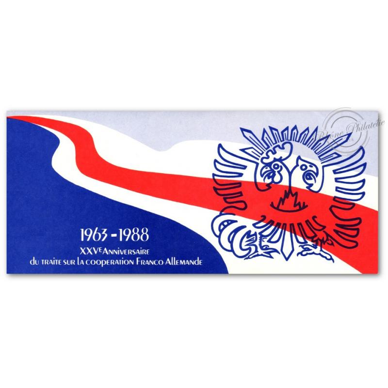 EMISSION COMMUNE (1988) ALLEMAGNE : traité coopération franco-allemande