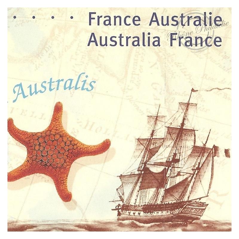 EMISSION COMMUNE (2002) AUSTRALIE /s BLISTER : bicentenaire rencontre des explorateurs navigateurs Baudin et Flinders