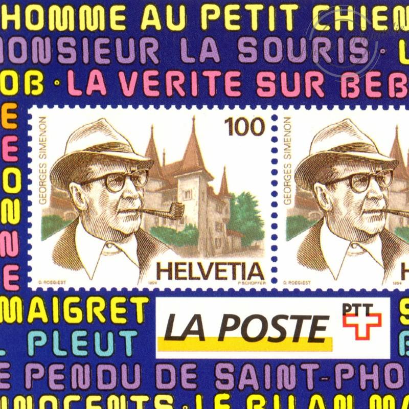 EMISSION COMMUNE (1994) SUISSE et BELGIQUE : hommage à Georges Simenon