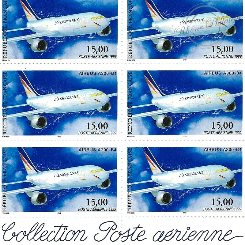 PA N°_63 AIRBUS A300-B4 LUXE feuille 10 timbres sous blister