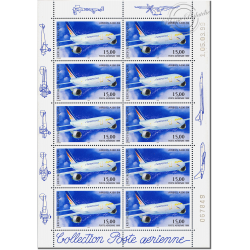 PA N°_63 AIRBUS A300-B4 LUXE feuille 10 timbres F63a