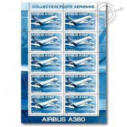 "PA N°_69 ""AIRBUS A380"" 2006 LUXE feuille 10 timbres sous blister"