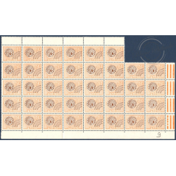 FEUILLET 38 TIMBRES PREOBLITERES N°142 (MONNAIE GAULOISE,1976)