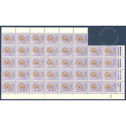 FEUILLET 38 TIMBRES PREOBLITERES N°144 (MONNAIE GAULOISE,1976)