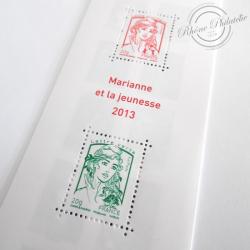 """CARNET """"LA Vè REPUBLIQUE AU FIL DU TIMBRE 1959-2013"""" BC4781, divers types Marianne"""