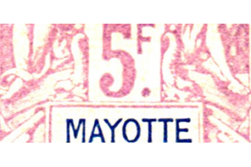 Mayotte Timbres Collection Colonie Française