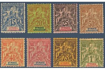 Sainte Marie De Madagascar Timbres Collection Colonie Française