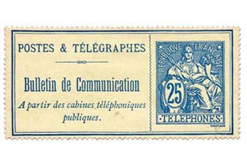 TIMBRES-TELEPHONES DE FRANCE