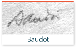 signature de l'expert Baudot sur les timbres de collection