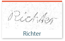 signature de l'expert Richter sur les timbres de collection