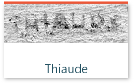 signature de l'expert Thiaude sur les timbres de collection