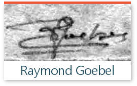 signature de l'expert Goebel sur les timbres de collection