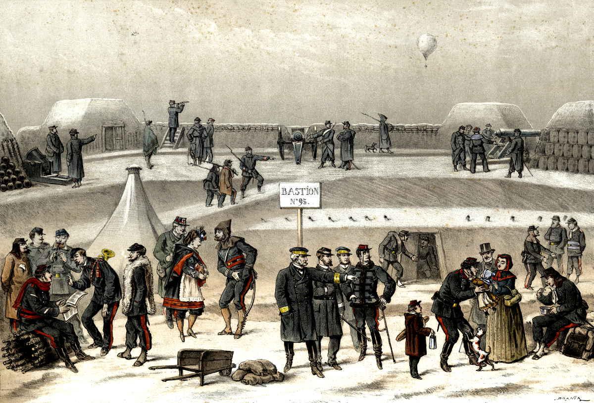 siege paris 1870 bastion ballons montés